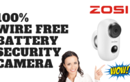 ZOSI 100% Wire Free Battery Security Camera