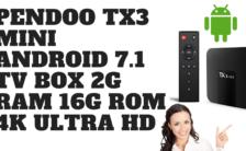 Pendoo TX3 Mini Android 7.1 TV Box 2G RAM 16G ROM 4K Ultra HD