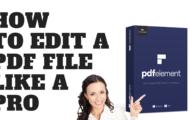 How to Edit A PDF File Like A Pro