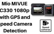 Mio MIVUE C330 1080p dash cam with GPS and Speed Camera Detection