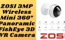 ZOSI 3MP Wireless Mini 360° Panoramic FishEye 3D VR Camera