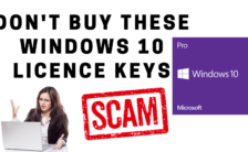 Don't Buy These Windows 10 Licence Keys