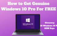 How to Get Genuine Windows 10 Pro For FREE