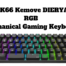 DK66 Kemove DIERYA Wired_Wireless RGB Mechanical Gaming Keyboard