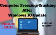 Computer Freezing Crashing After Windows 10 Update