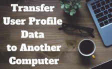 Transfer user profile data to another computer