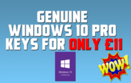 Genuine Windows 10 Pro Keys for Only £11