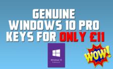 Genuine Windows 10 Pro Keys for Only £11