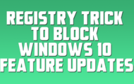 Registry Trick to Block Windows 10 Feature Updates