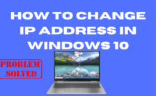 how to change ip address in windows 10