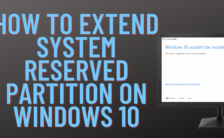 How to Increase System Reserved Partition Windows 10