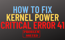how to fix kernel power critical error 41