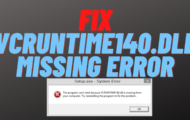 vcruntime140.dll Missing Error Fix
