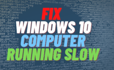 Fix Computer Running Slow