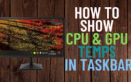 How to Show CPU and GPU Temperature on Taskbar
