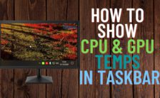 How to Show CPU and GPU Temperature on Taskbar