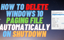 How to Delete Windows 10 Paging File Automatically on Shutdown