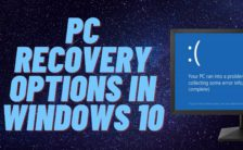 PC Recovery Options in Windows 10