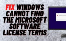 Fix Windows Cannot Find The Microsoft Software License Terms