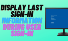 Display Last Sign-in Information during User Sign-in
