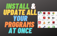 How to Install and Update All Your Programs At Once