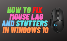 How To Fix Mouse Lag and Stutters in windows 10