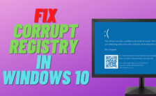 How to Fix Corrupt Registry in Windows 10