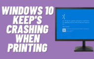BSOD when Printing