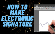 How to create Electronic Signature