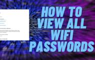 Show hidden wifi passwords