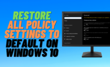 reset all policy settings