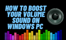 boost audio windows 10