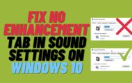 Fix Realtek No Enhancements Tab