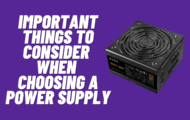 How to choose the right power supply