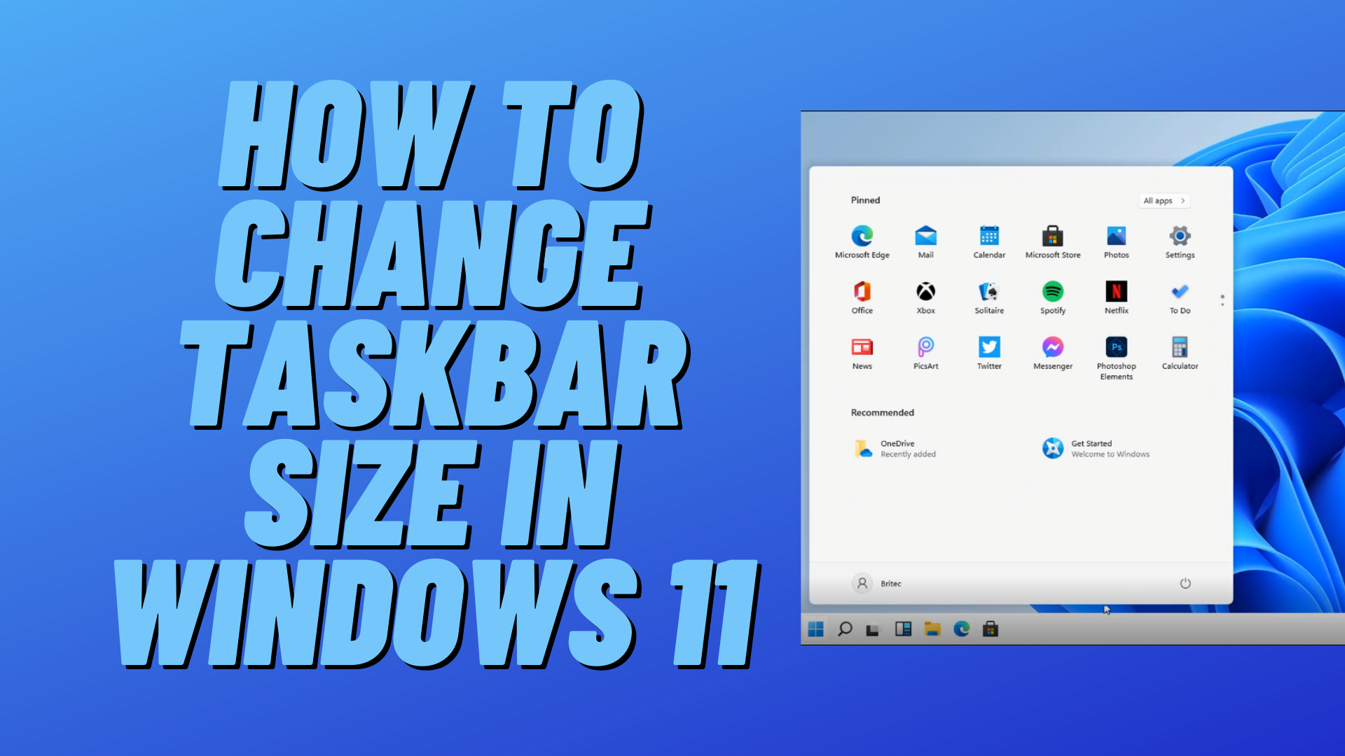 How to Change Taskbar Size in Windows 11