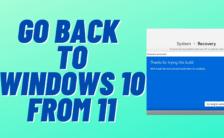 rollback to windows 10