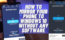 Mirror phone to pc