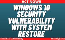 Windows 10 security vulnerability SeriousSAM