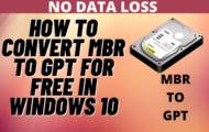 Convert BIOS / MBR to UEFI / GPT without reformatting - MBR2GPT tool | Prepare for Windows 11